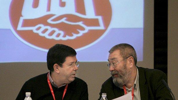 José Javier Cubillo junto a Cándido Méndez
