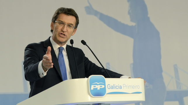 """El PP de Feijóo pierde 135.500 votos """"es decir el 17,16% de los votos que tenía- respecto a las elecciones autonómicas de 2009.. Y respecto a las generales del 20-N pierde casi 202.000 votos """"el 23,58%- de los que tuvo hace un año."""