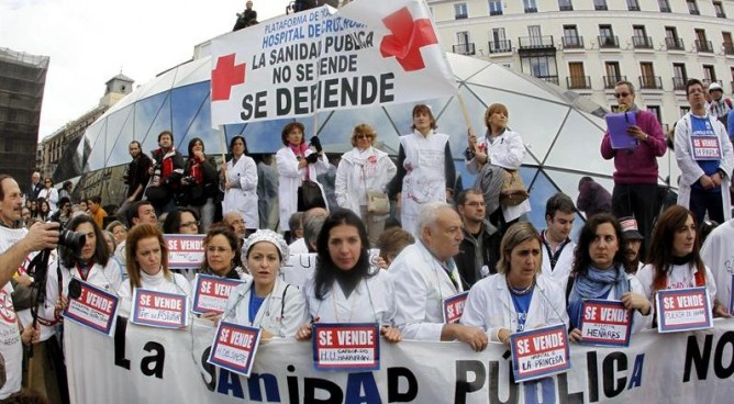 Madrid se ha convertido en la capital de la lucha en defensa de la sanidad pública.