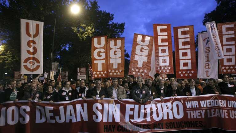 Según el estudio hecho por los sindicatos, en 2012 las convocatorias de huelga han sido seguidas por más trabajadores y han tenido más duración.