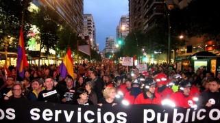 Lo que empezó con ocho mil personas, terminó reuniendo en la Plaza Circular a unos 40.000 ciudadanos.