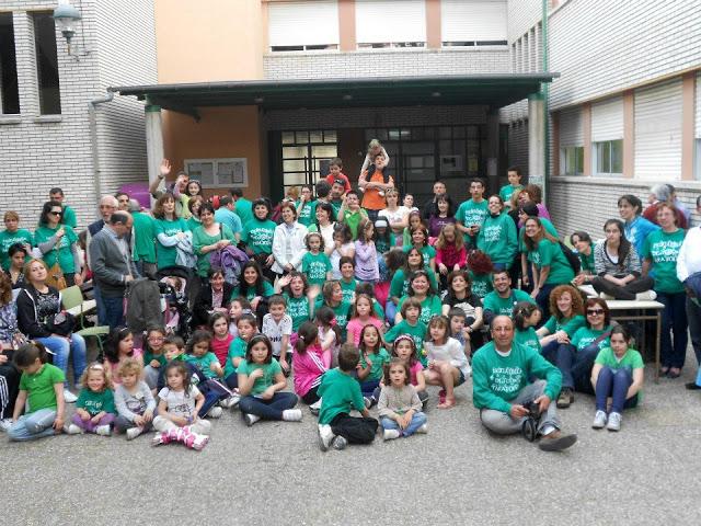 Encierro en el colegio madrileño Gonzalo de Berceo contra los recortes en educación.