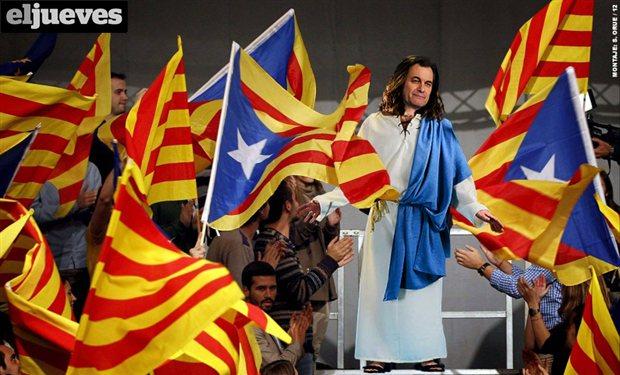 Fotomontaje publicado por la revista El Jueves el 9-11-2012.