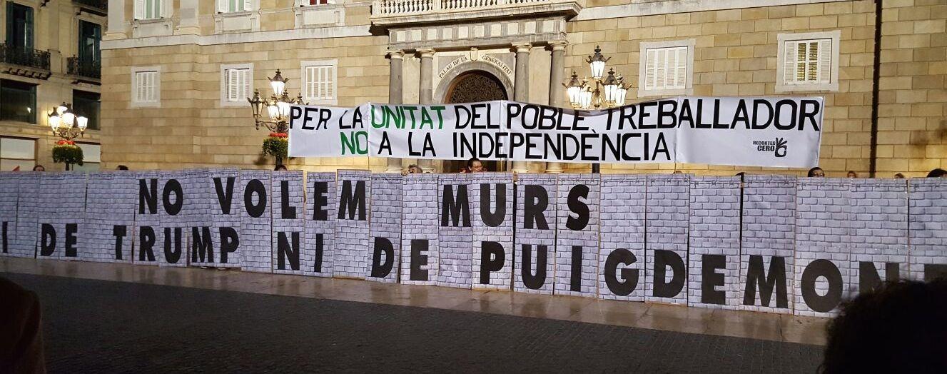 No queremos muros ni de Trump ni de Puigdemont