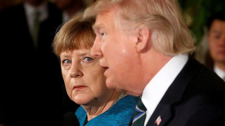 Áspero trato para Merkel en Washington