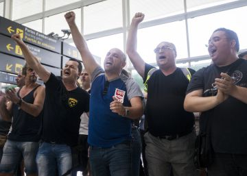 Huelga de los trabajadores en el aeropuerto de El Prat