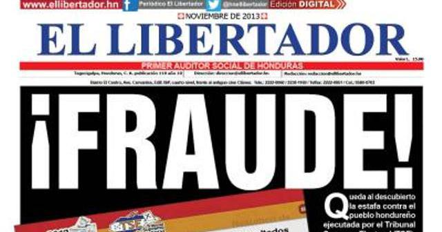 Un fraude de aquí a Tegucigalpa