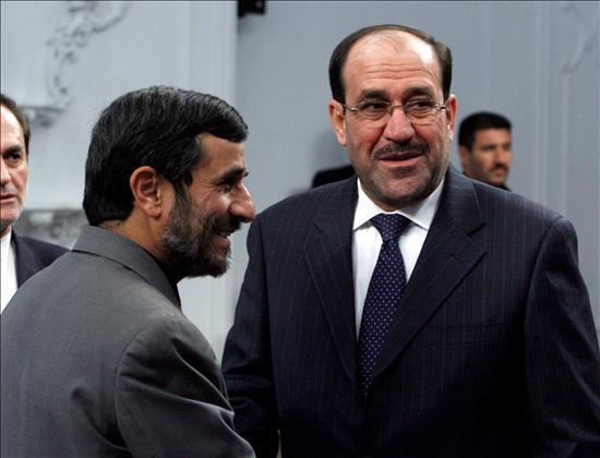 (Efe) El presidente iraní, Ahmadinejad y el primer ministro iraquí, Nuri al Maliki en Teherán hace una semana