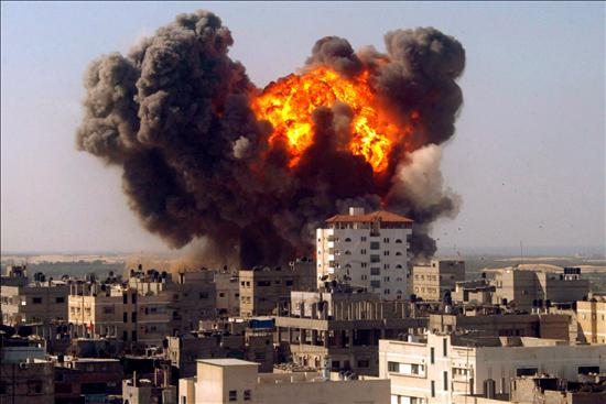 """""""Llamas de Guerra en Gaza"""""""