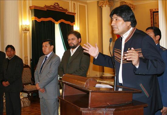 (EFE) Evo Morales la ruptura de relaciones diplomáticas entre Bolivia e Israel en solidaridad con el pueblo palestino
