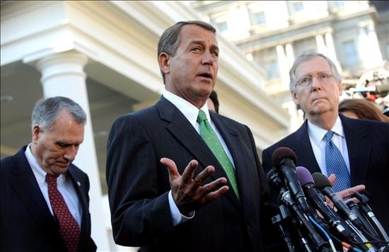 (EFE) John Boehner, jefe de las filas republicanas, rechaza el plan de Obama