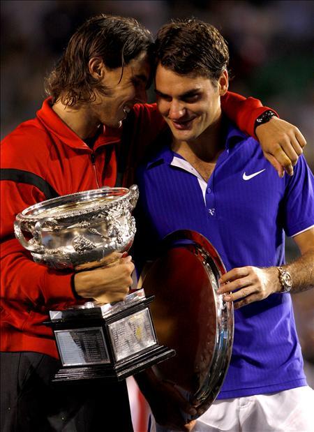 (efe) Nadal anima a Federer