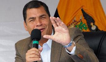 Rafael Correa, el presidente de Ecuador, mantiene niveles históricos de popularidad -del 70%- tras dos años de gobierno. EFE