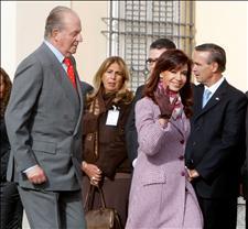 El Rey y la presidenta argentina, Cristina Kirchner. (Foto: EFE)