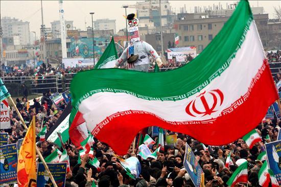 Celebración del aniversario de la Revolución Islámica en Teherán. EFE