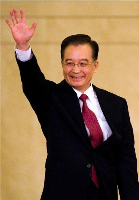 El primer ministro chino, Wen Jiabao, ha vaticinado hoy que China puede cumplir el objetivo de un crecimiento del 8% del PIB.(EFE)