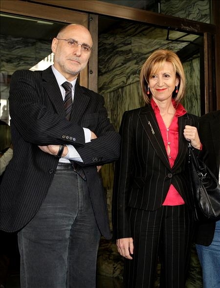 Rosa Díez, portavoz de Unión Progreso y Democracia (UPyD), y diputada en el Congreso, en la sede del PSE-EE de Bilbao (Efe)