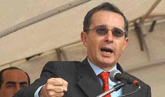 El presidente colombiano, Alvaro Uribe. Foto: TeleSUR