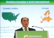 Ignacio Sanchez Galán, presidente de Iberdrola, en la ultima Junta de Accionistas. (Foto. EFE)