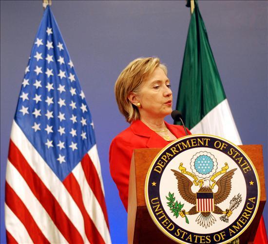 La secretaria de estado de EEUU, Hillary Clinton, en su visita a México. EFE