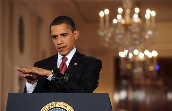El presidente de Estados Unidos Barack Obama responde preguntas a los periodistas en la Casa Blanca. EFE