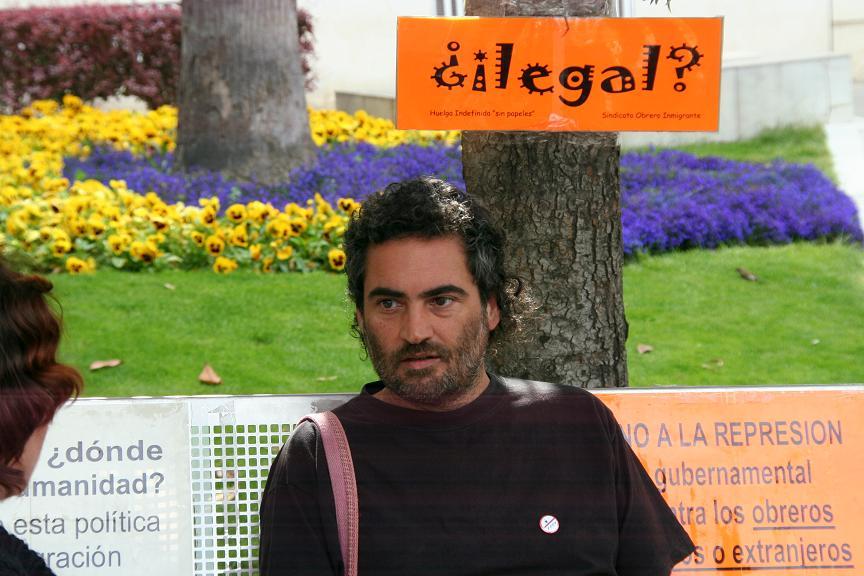 Jesús Hidalgo en una huelga de hambre