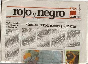 Entrevista a Roberto Blanco, director de Rojo y Negro (CGT). Segunda Parte