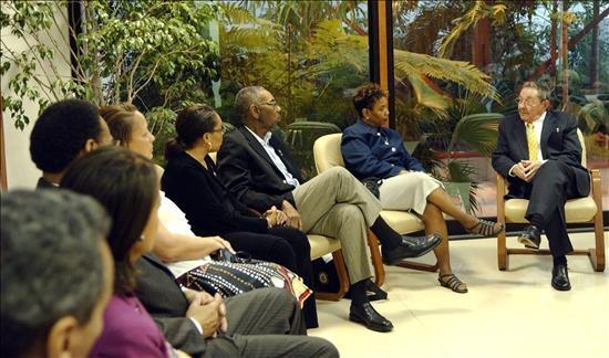 Raúl Castro, durante una reunión en La Habana con la delegación de congresistas demócratas de Estados Unidos.