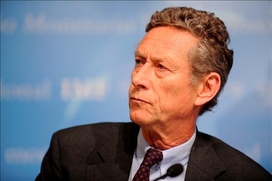 El economista jefe del Fondo Monetario Internaconal (FMI), Olivier Blanchard, durante la rueda de prensa que ofreció en Washington. EFE