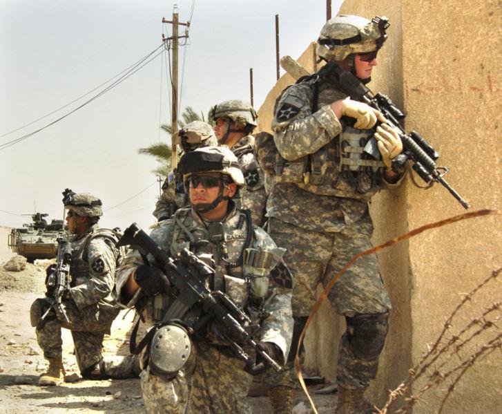 Soldados norteamericanos en Irak. Creative Commons License