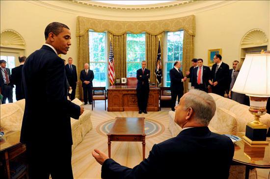 Obama y Netanyahu ayer en la Casa Blanca. EFE