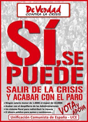 ¡Sí se puede salir de la crisis y acabar con el paro!