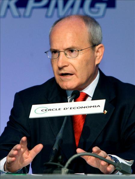 (EFE) El presidente de la Generalitat, José Montilla, durante su intervención en la XXV Reunión del Círculo de Economía.