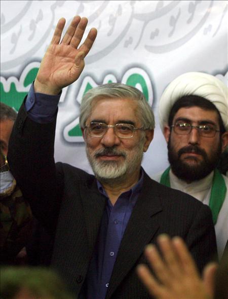 ex primer ministro iraní y candidato a la presidencia, Mir-Hossein Mousavi. EFE