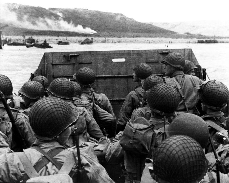 Foto del Desembarco de Normandia el 6 de junio de 1944. No Copyright