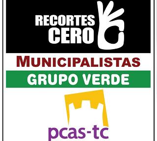Recortes Cero – Partido Castellano-Tierra Comunera - Grupo Verde - Municipalistas