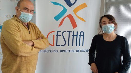 Sara Montero con Manuel Redal de GESTHA